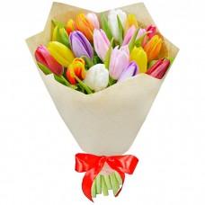 Букет Тюльпаны в крафте 19 шт
